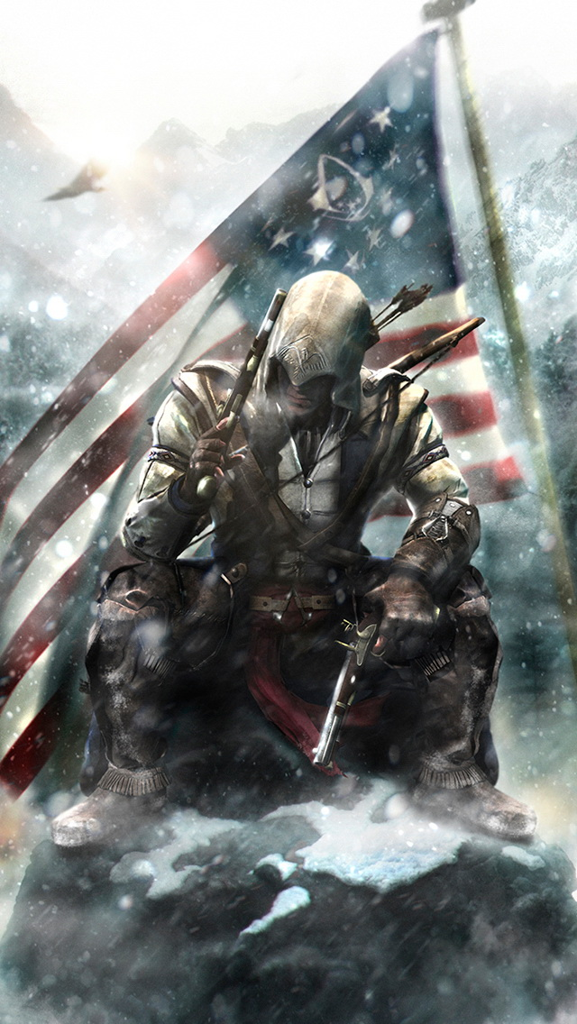 Free Download Assassins Creed Connor Fan Art Wallpaper Iphone