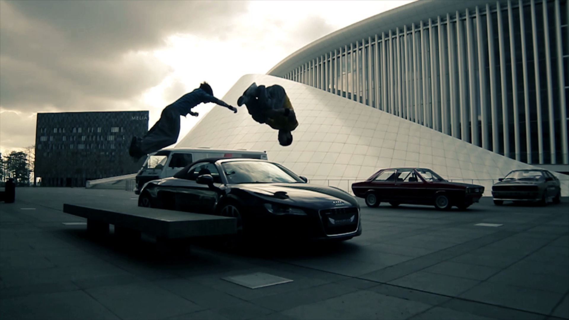 Parkour in the parking lot wallpapers and images   wallpapers 1920x1080