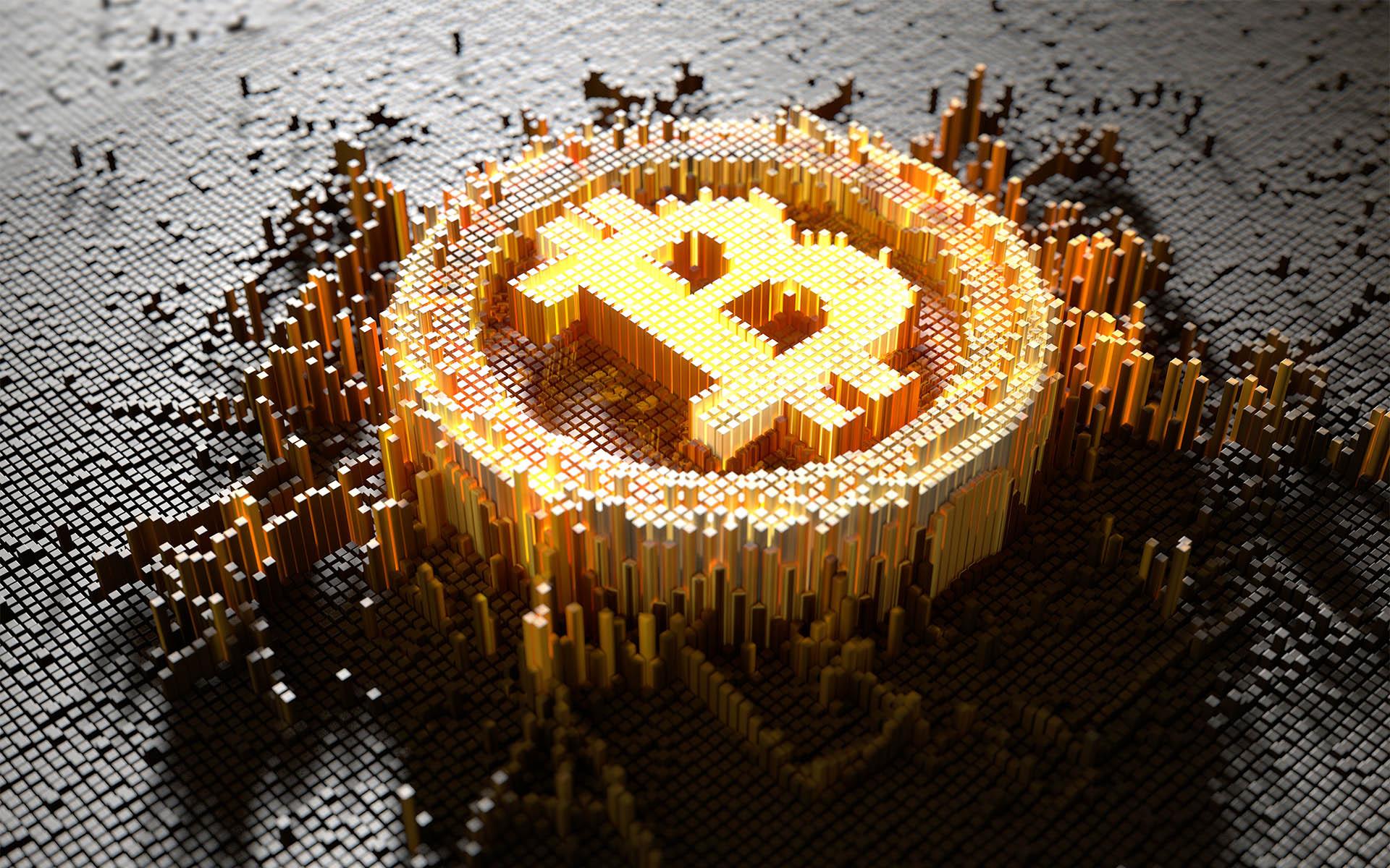 Bitcoin digital art cryptocurrency wallpaper 1920x1200
