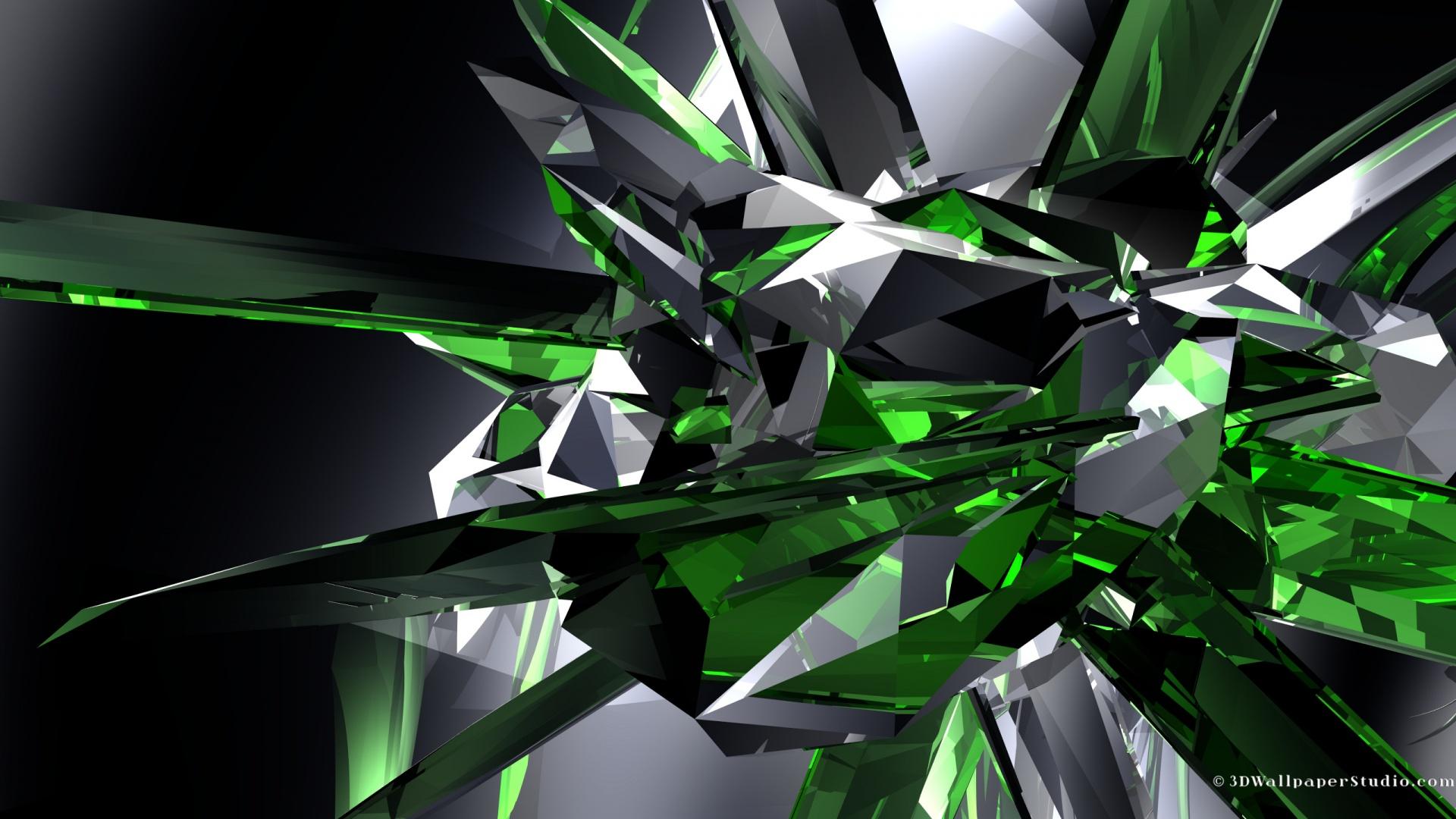 emerald crystals wallpaper linux wallpapersjpg 1920x1080