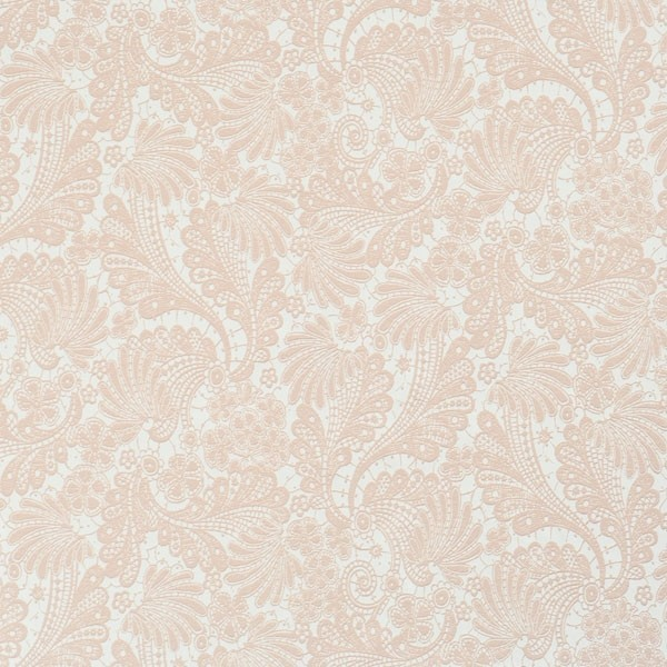 Interlace Pink Floral Wallpaper Sample   Traditional 600x600