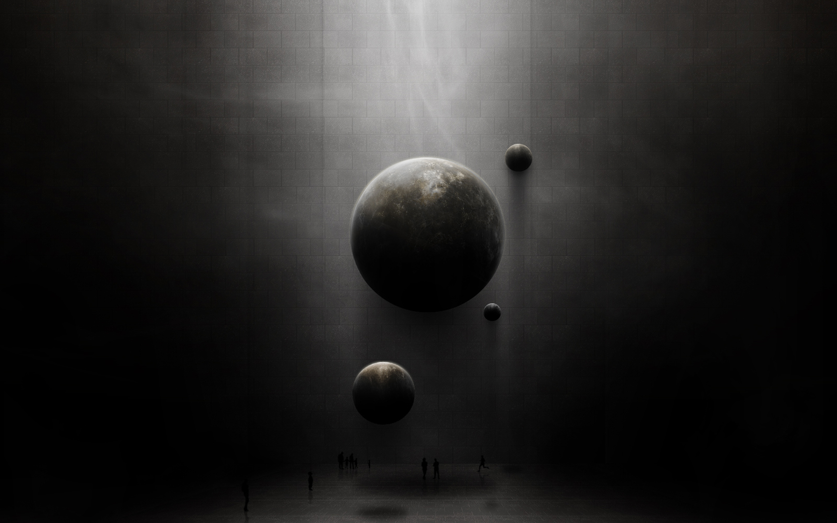 Abstract Dark Planets wallpaper from Dark wallpapers 1680x1050