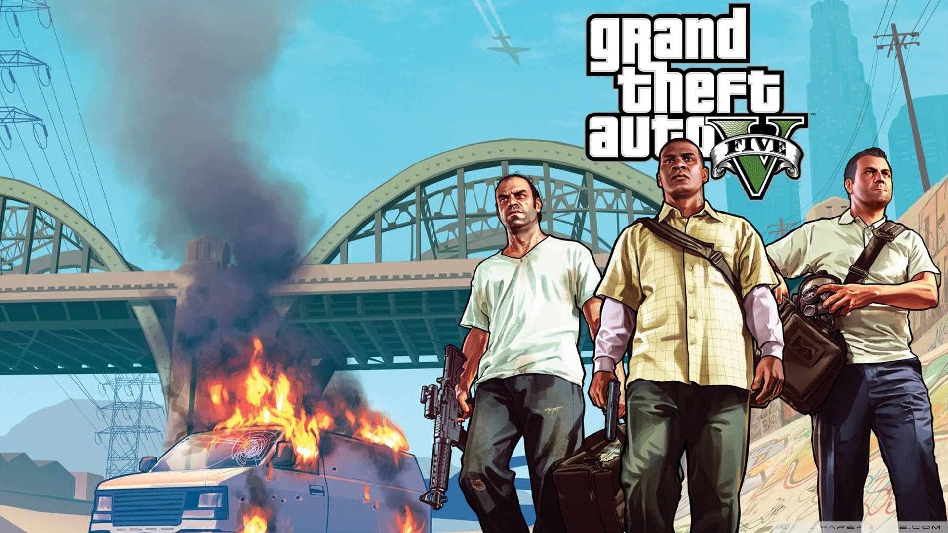Gta V Trio Wallpaper 1920x1080 Gta V Trio 1920x1080