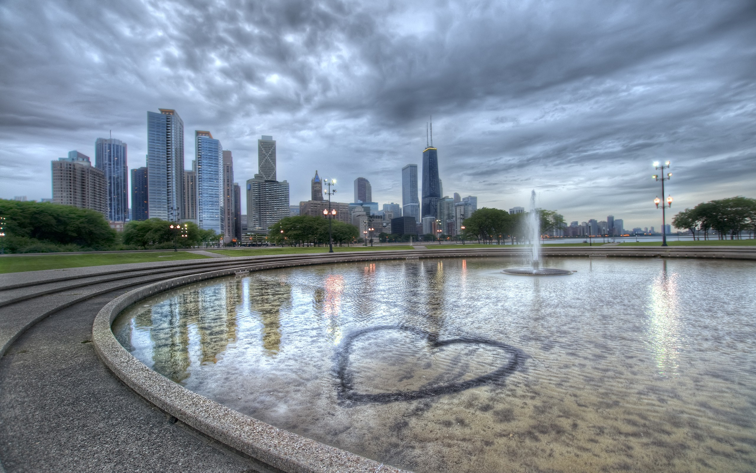 Chicago Heart Illinois   Wallpaper 36087 2560x1600