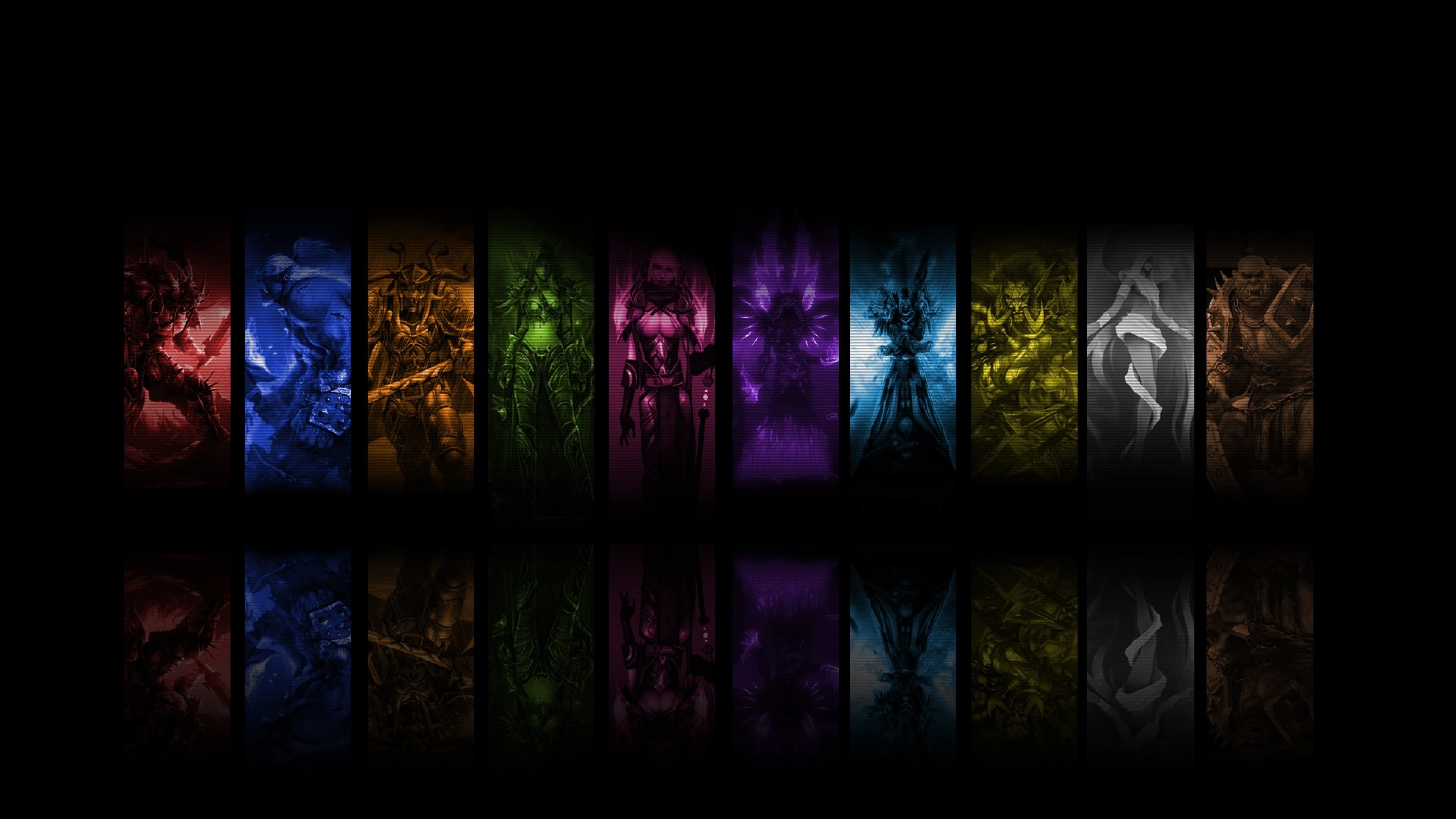 Download Wallpaper 3840x2160 World of warcraft Priest mage Shots 3840x2160