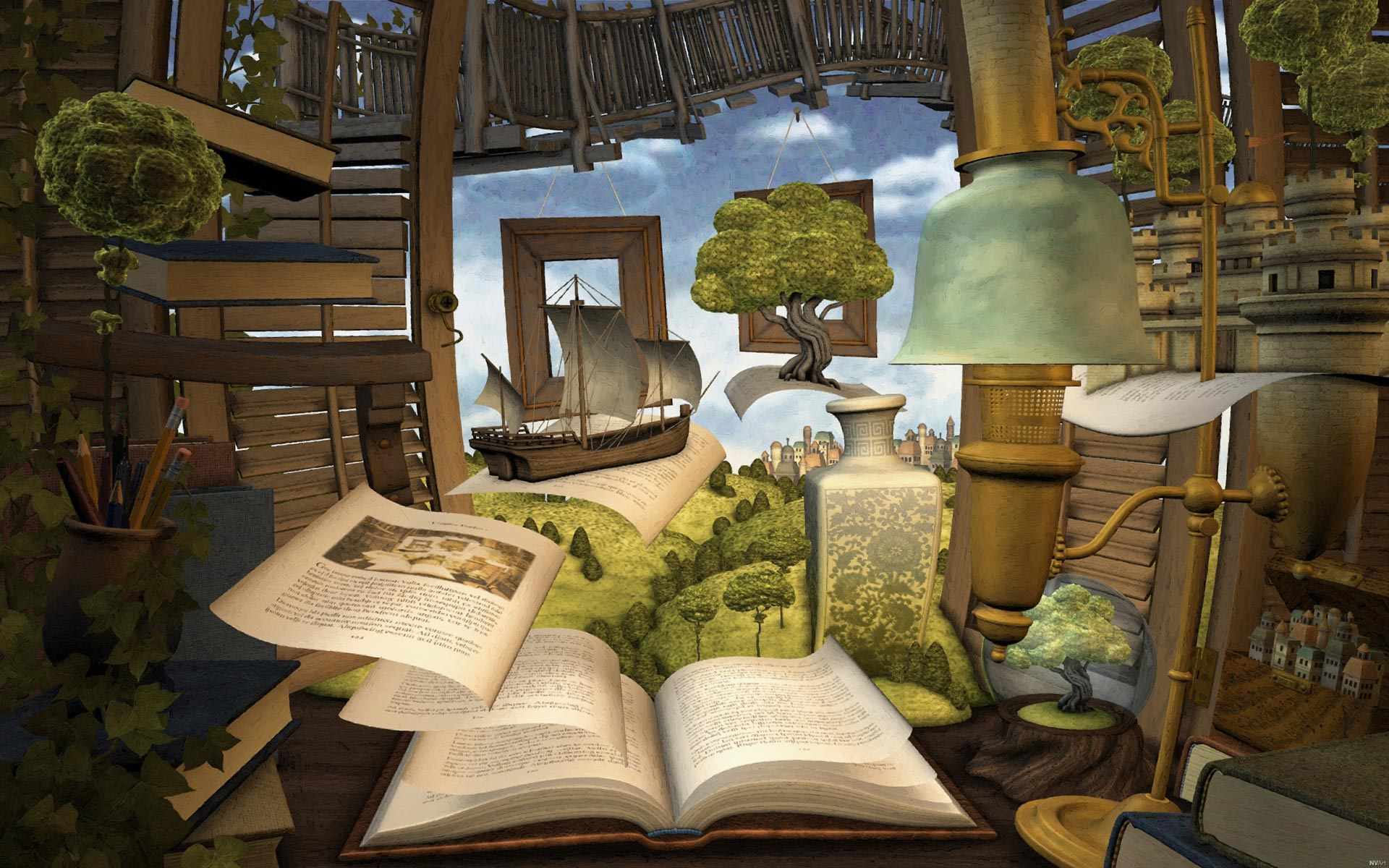 Lost in a Good Book Wallpaper s Orientation horizontal Dimensions 1920x1200