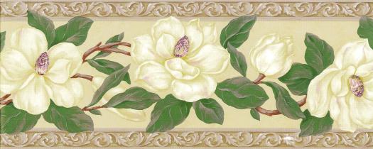 Magnolia Wallpaper Border   Wallpaper Border Wallpaper inccom 525x210