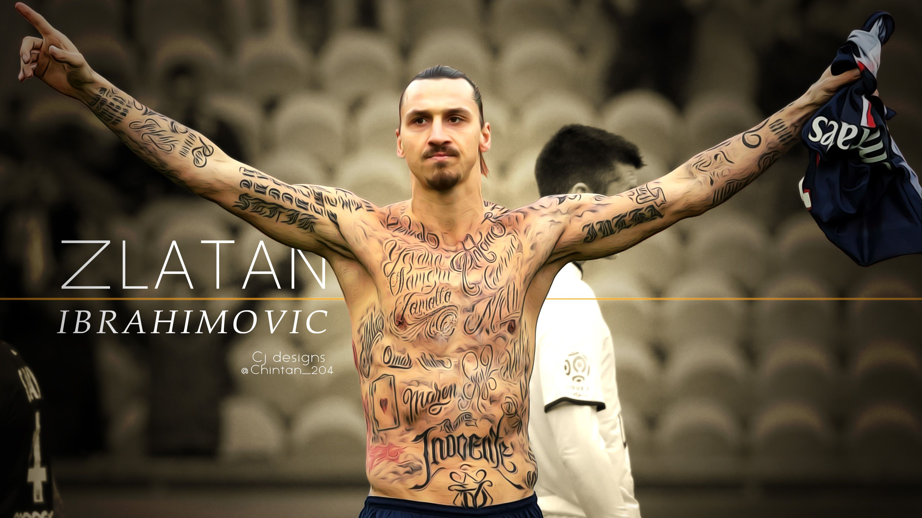 Related image Ftbol Ibrahimovic tattoo Wallpaper Tattoo shows 3500x1967