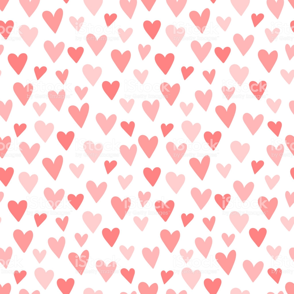 Pink Hearts Seamless Pattern Concept Of Baby Shower Birthday Love 1024x1024