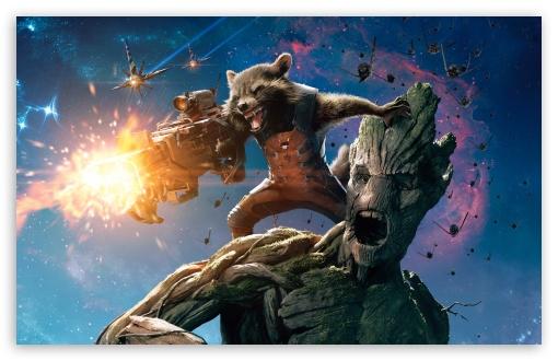 Guardians Of The Galaxy Groot And Rocket Raccoon HD desktop wallpaper 510x330