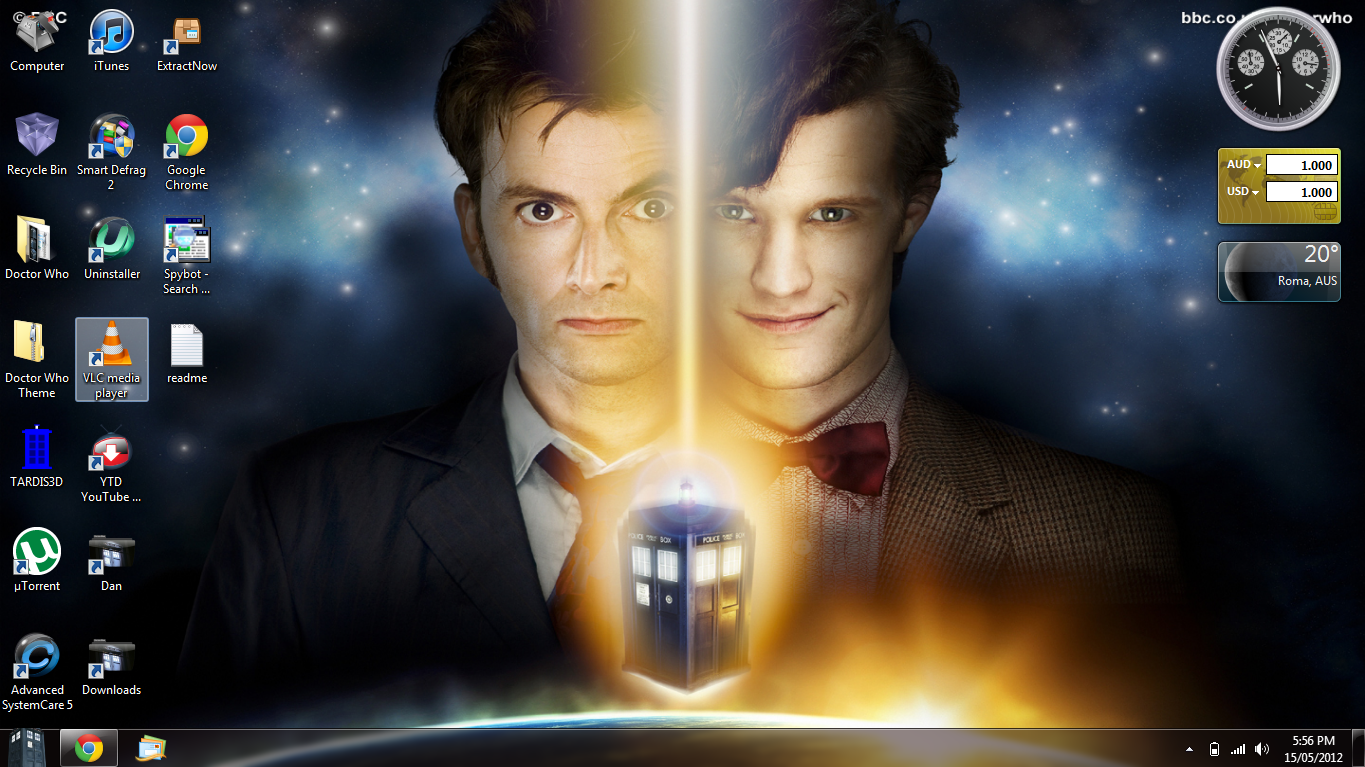 Doctor Who Desktop Theme by aries927 1365x767