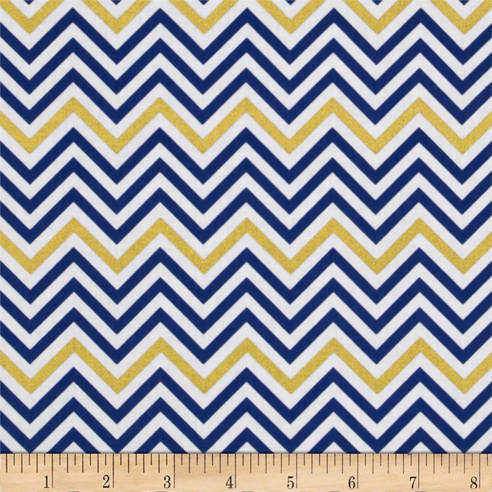 Royal Blue Chevron Pattern Remix metallic small chevron 1000x1000