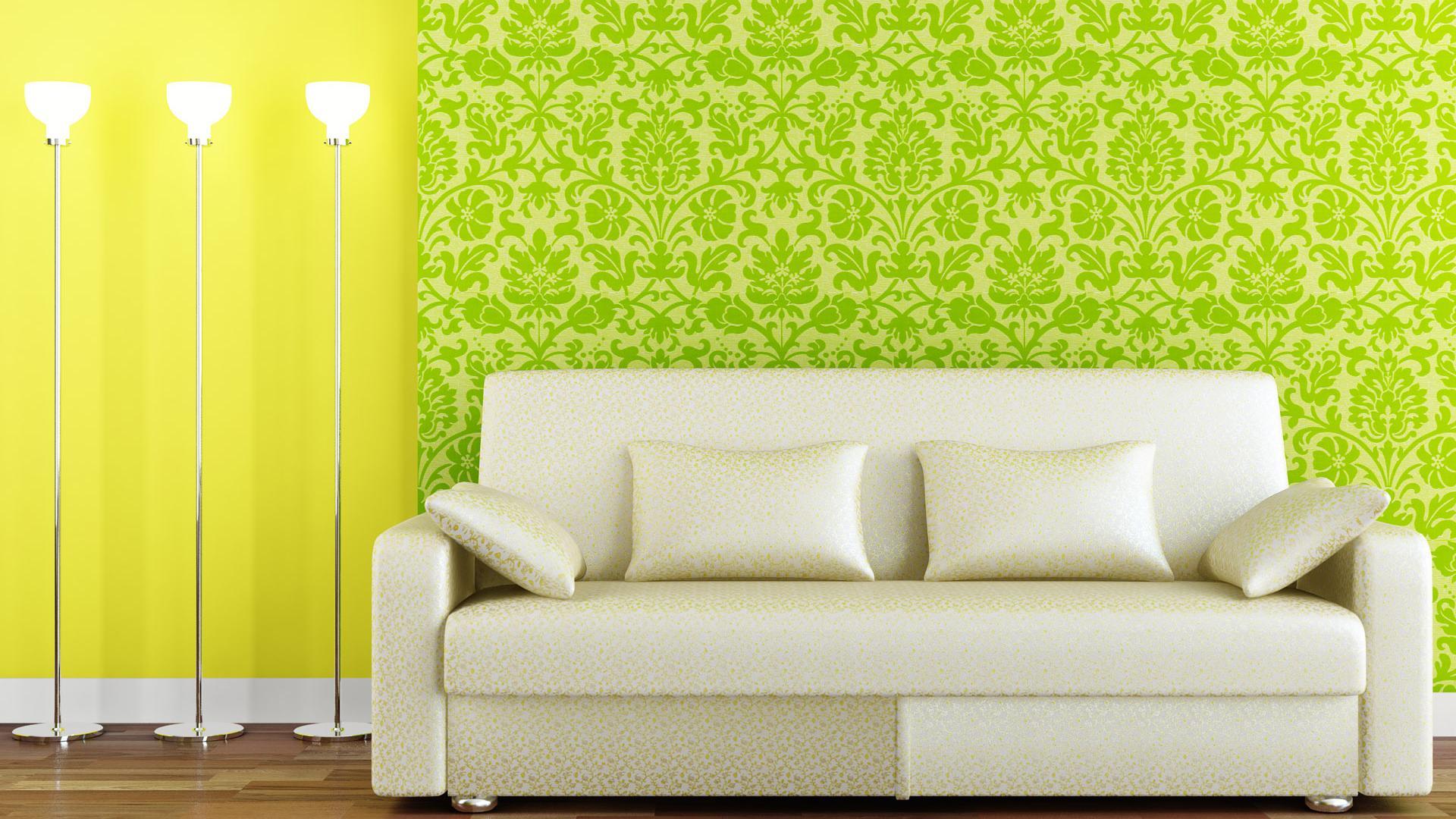 Green Living Room Designs 1920x1080