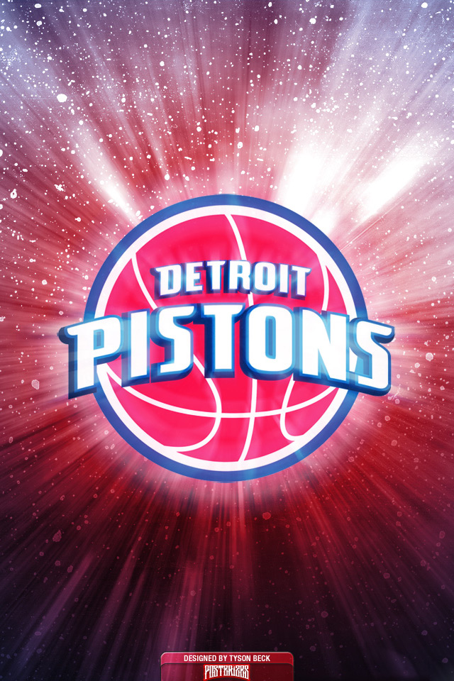 Detroit Pistons Iphone Wallpaper Detroit pistons logo wallpaper 640x960