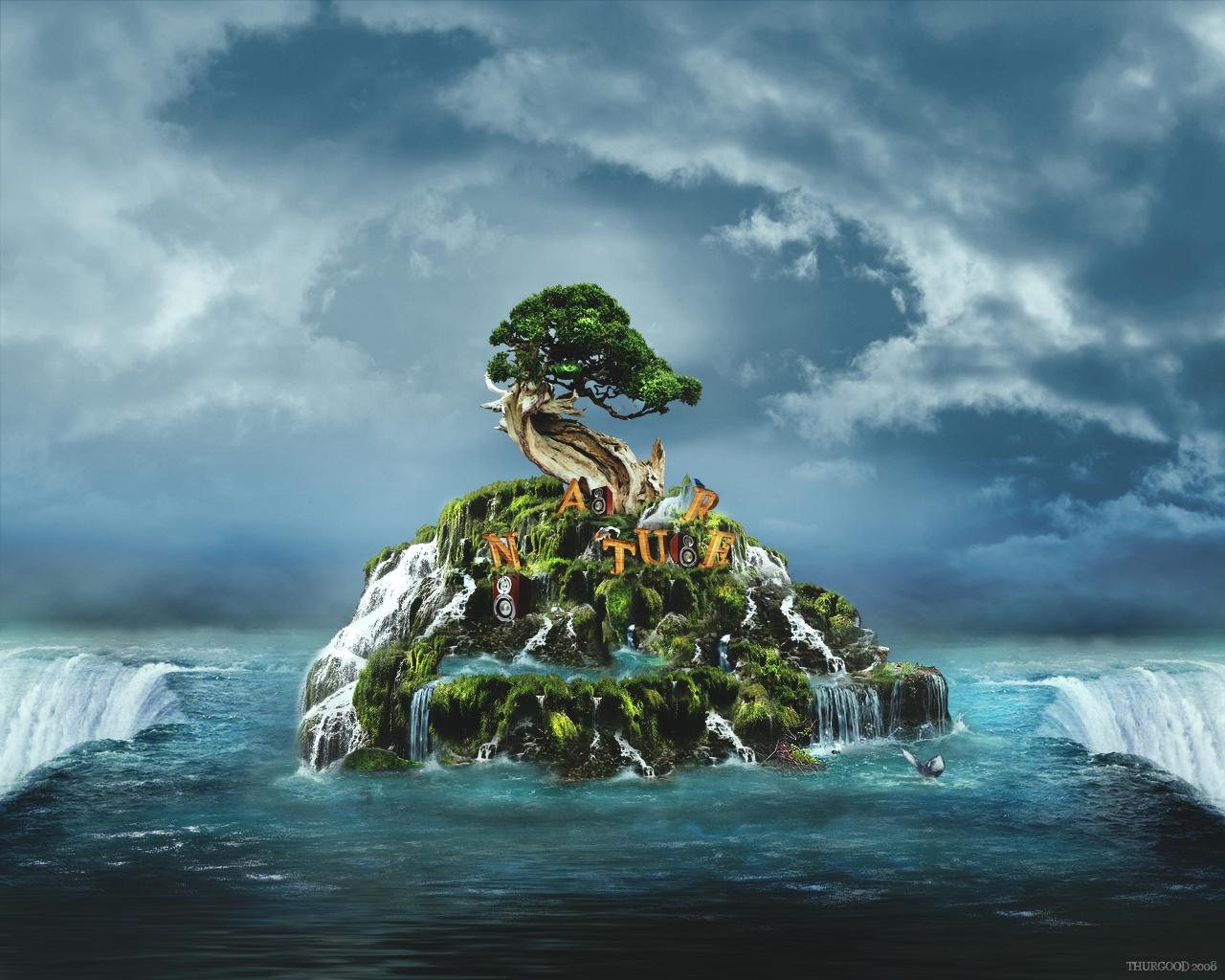 13 Fantastic Nature Wallpapers Undergone Photo Manipulation 1280x1024