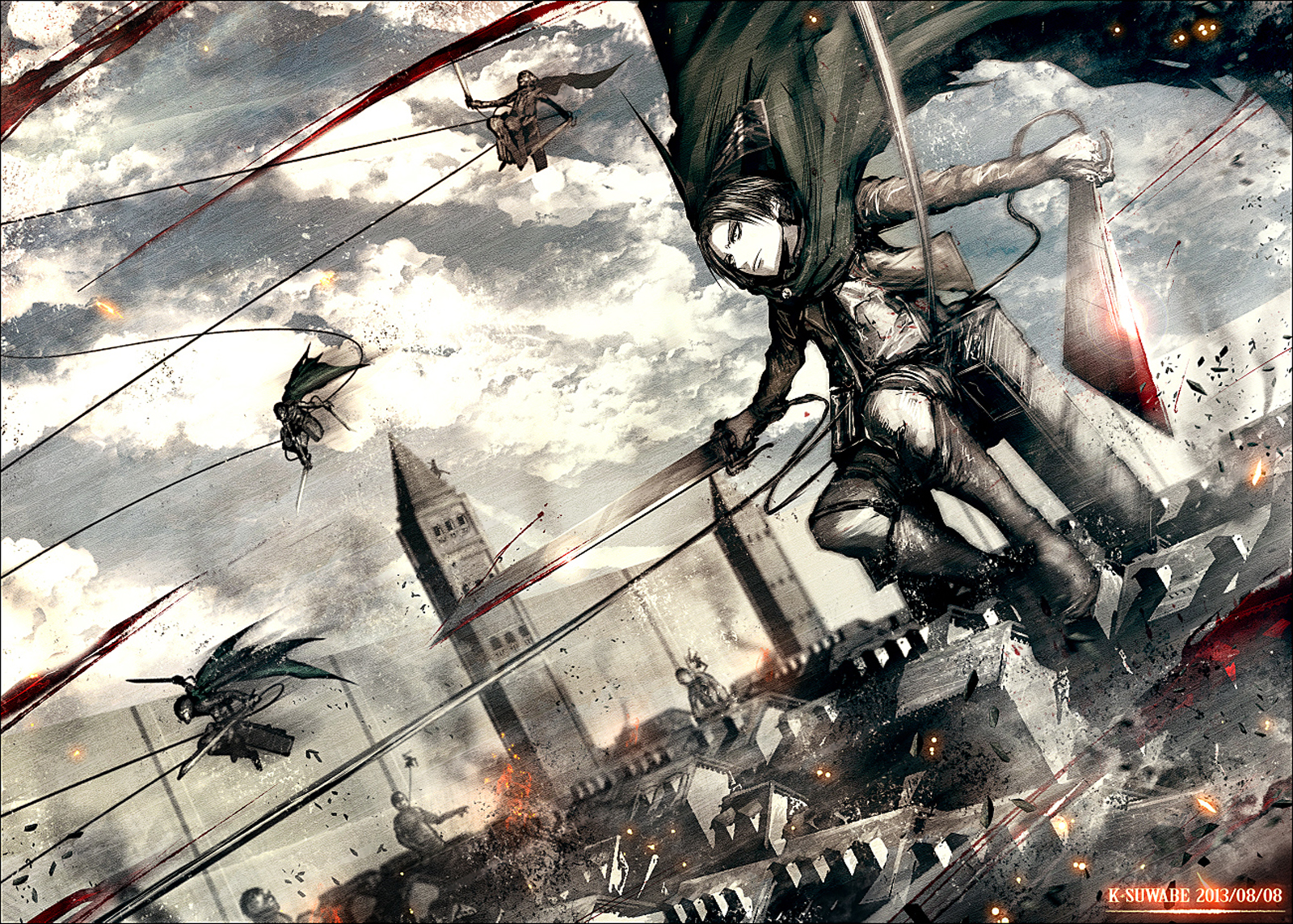 Levi Blade 3D Maneuver Gear 2122 HD Wallpaper 1600x1144