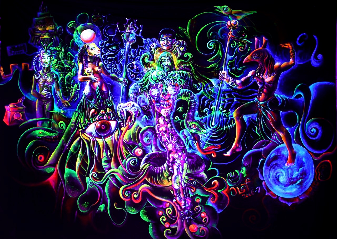 Psychedelic Space Wallpaper