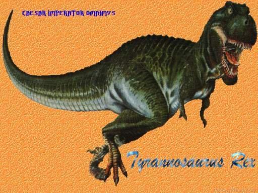 admirado por muchos Tyranosaurus Rex en una postura nada amigable 512x384