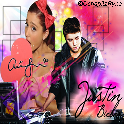 Justin Bieber and Ariana Grande icon by LucyyHale on 250x250