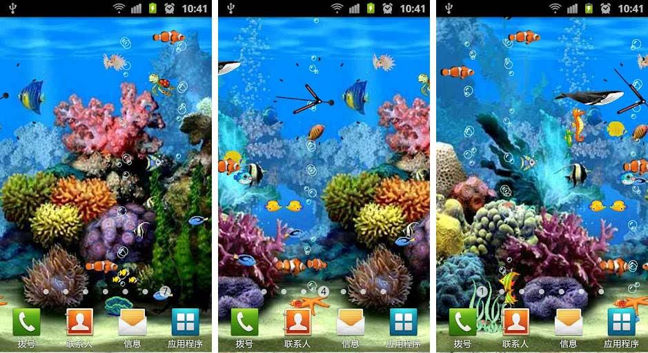 aquarium fish live wallpapers android ocean aquarium live wallpaper 939x512