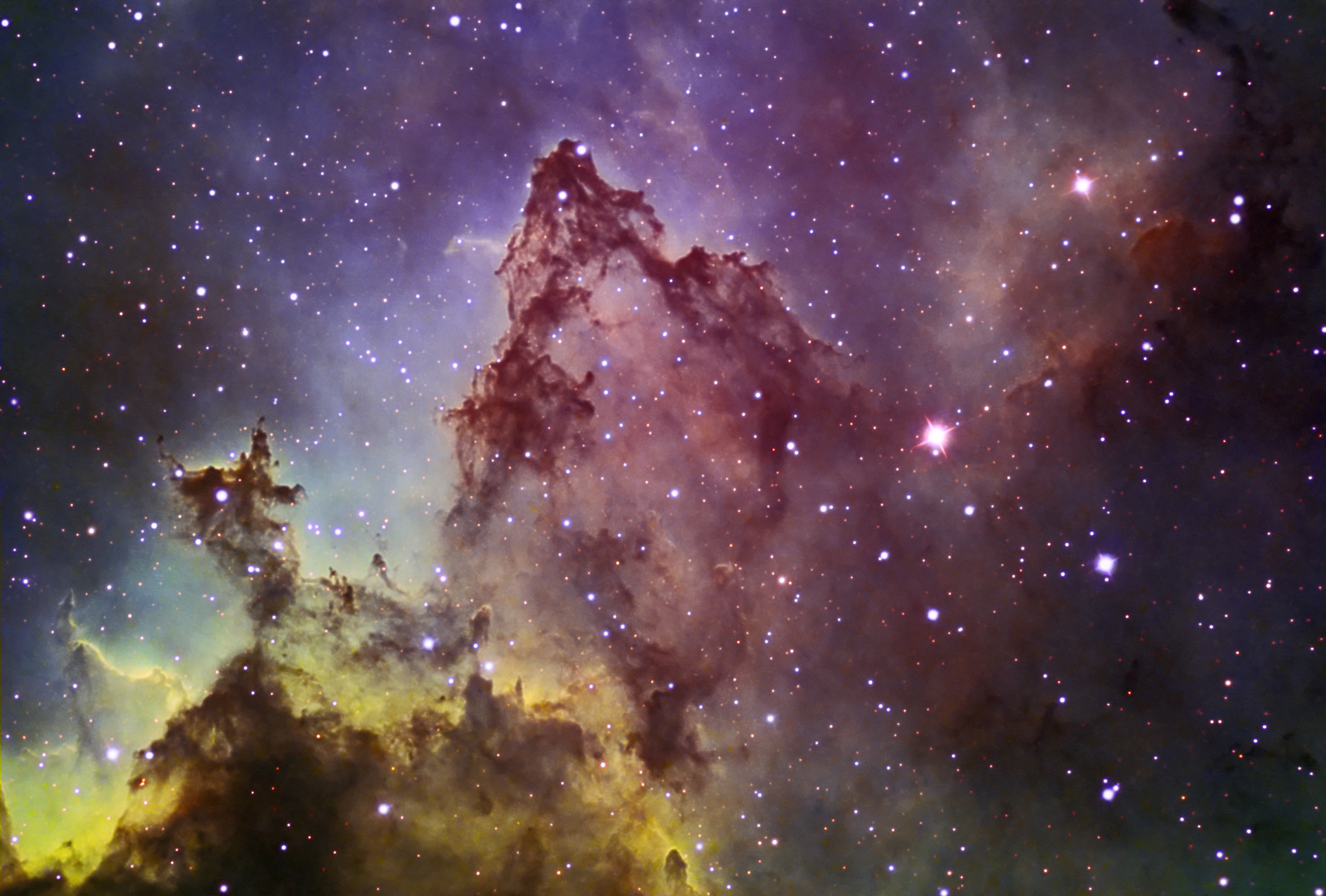 high resolution image using AstroDon narrowband filters of one part of 2100x1420