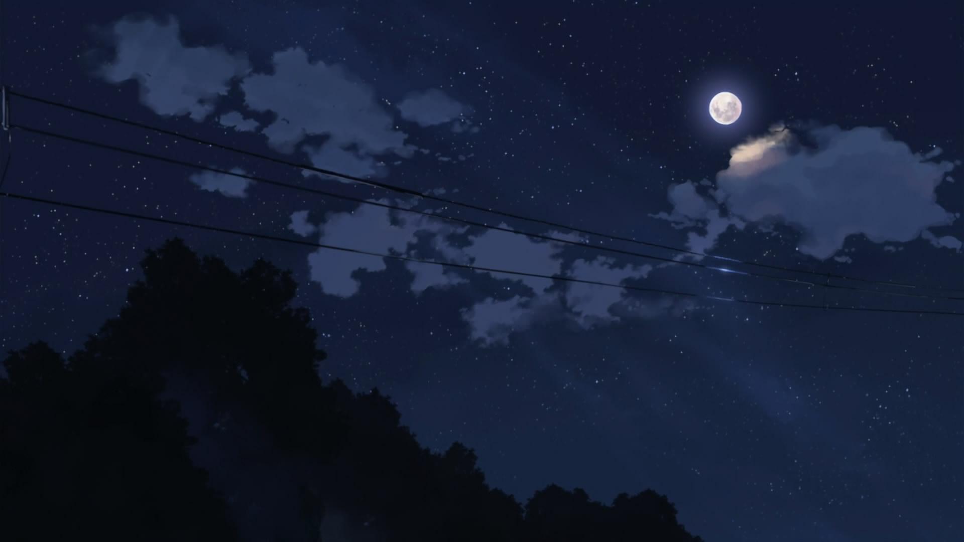 Download Anime Night Sky Wallpaper 5776 1920x1080 px High 1920x1080