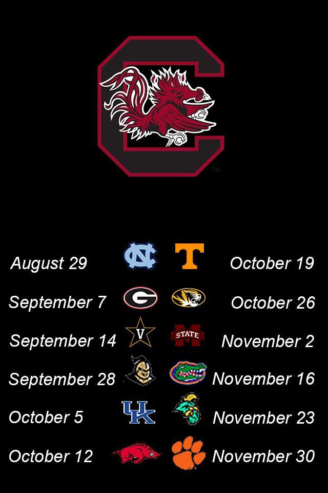 2013 South Carolina Gamecocks football schedule iPhone wallpaper 640x960