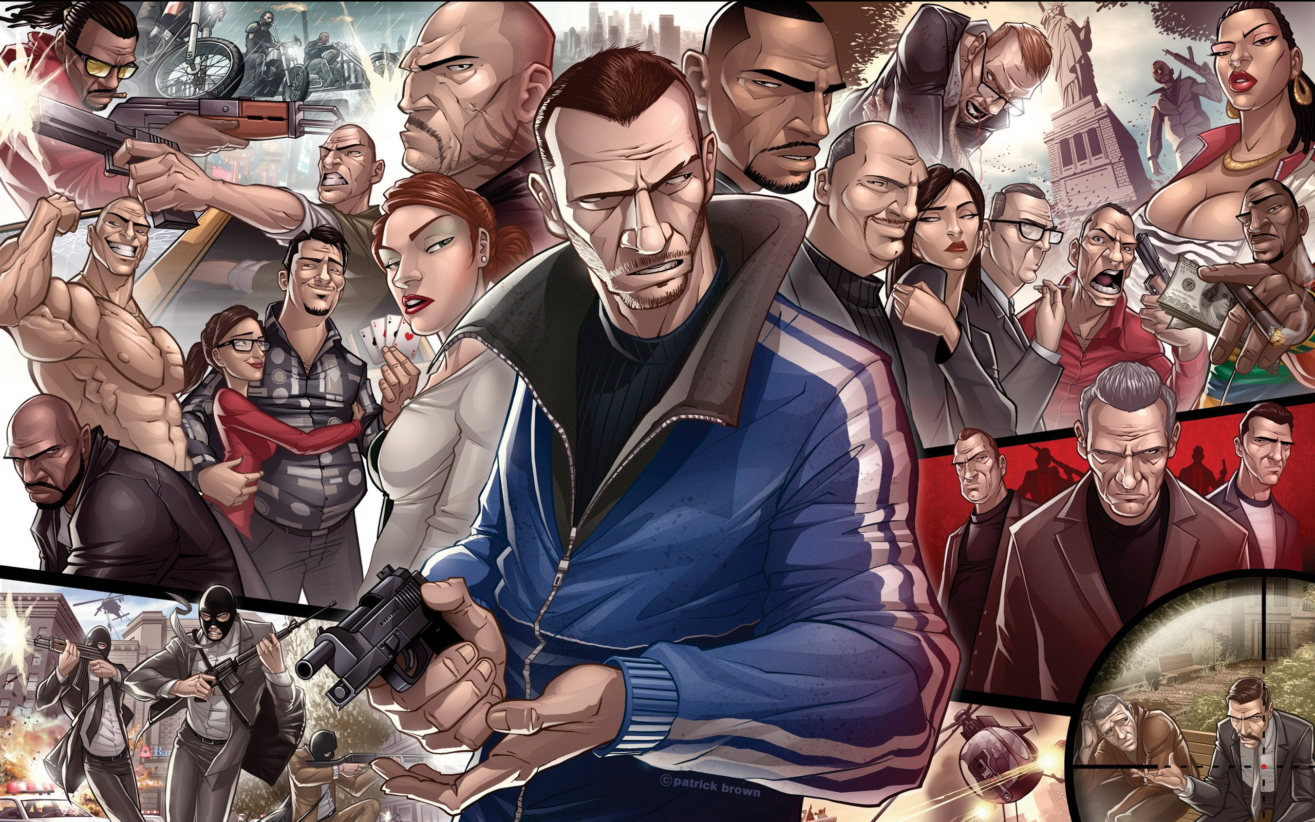 Grand Theft Auto IV Characters Wallpapers HD Wallpapers 2560x1600