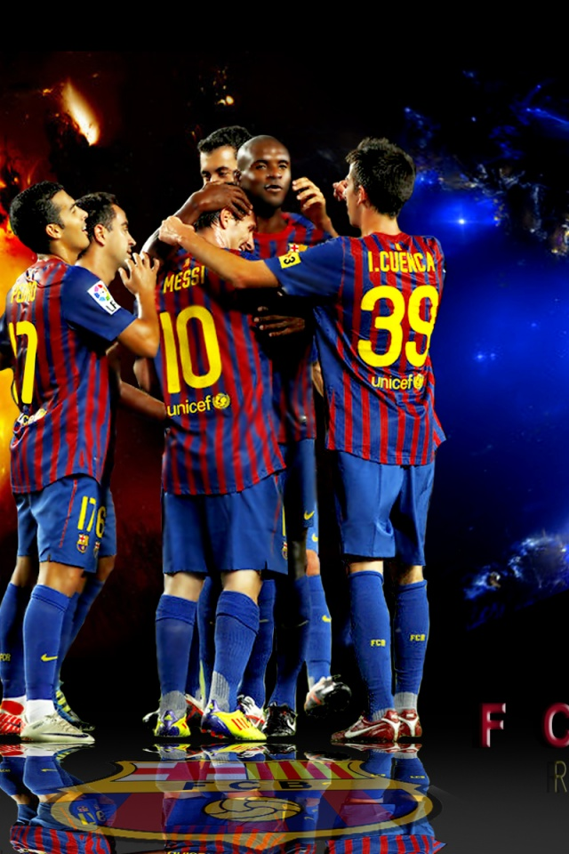 FC Barcelona IPhone Wallpapers The Art Mad Wallpapers 640x960