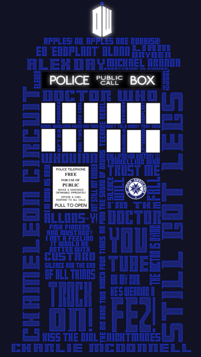 Blue Tardis iPhone 5 Wallpaper 640x1136 640x1136