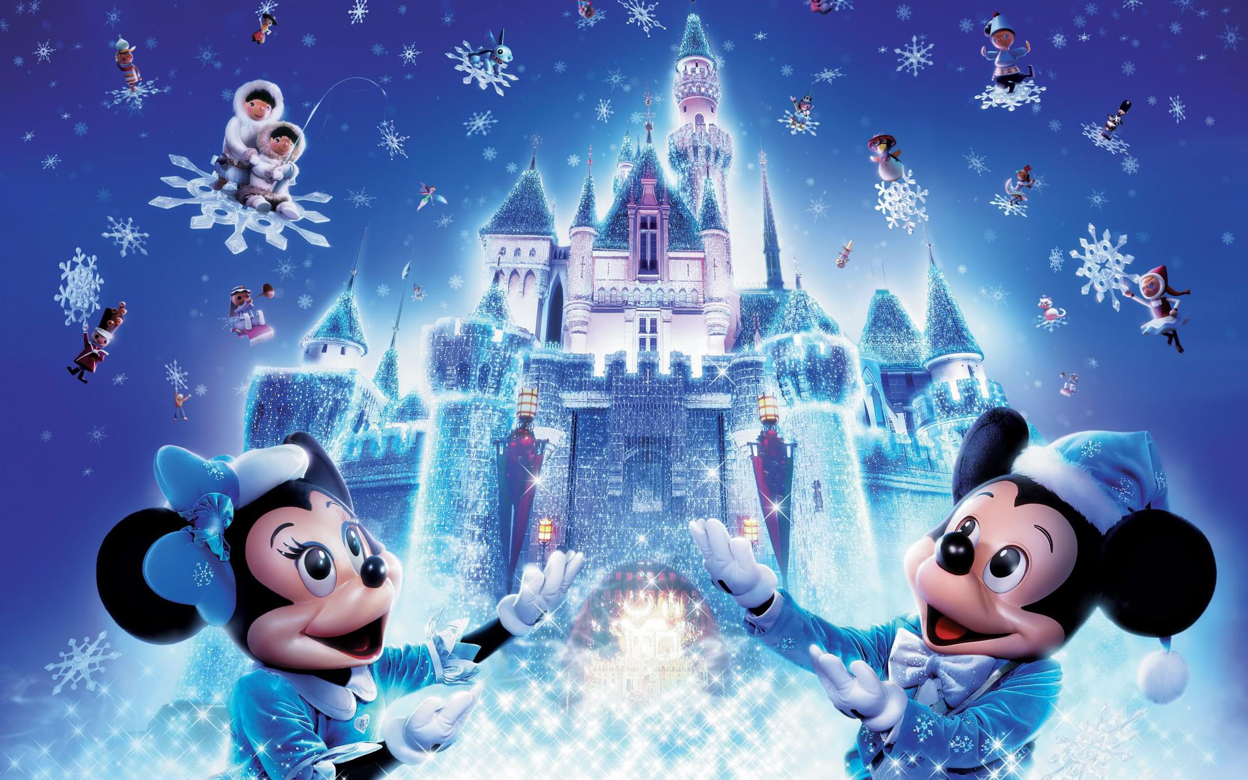 Disney Christmas Backgrounds Wallpapersafari