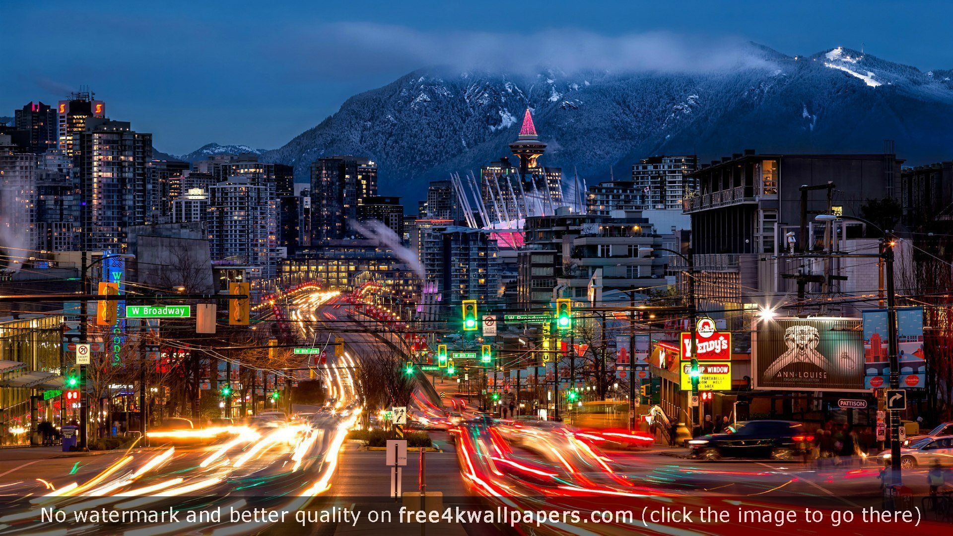 Night City of Vancouver Canada HD wallpaper 1920x1080