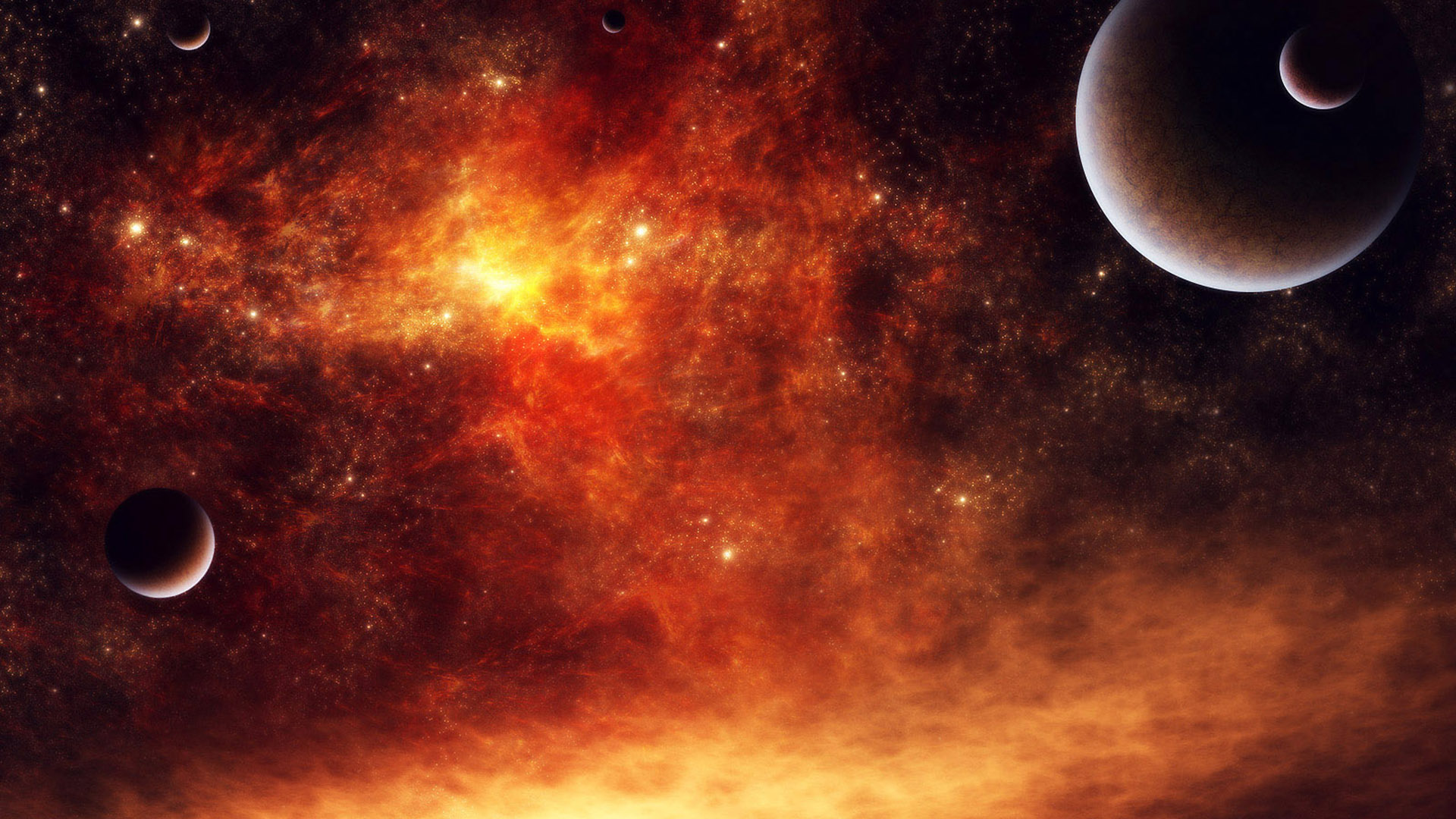 com Red Fire Space Planets Full 1080p Ultra HD Wallpapers 1920x1080