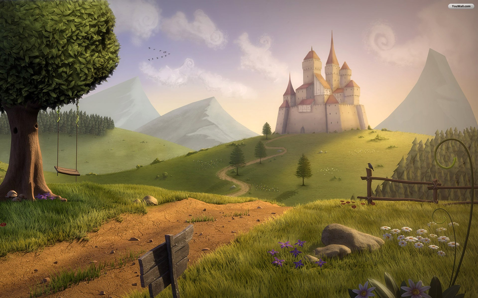 Fantasy Castle wallpaper   340163 1920x1200