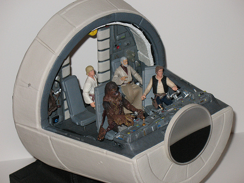 Star Wars Millennium Falcon Cockpit 1 by O.G. Trilogy , on Flickr