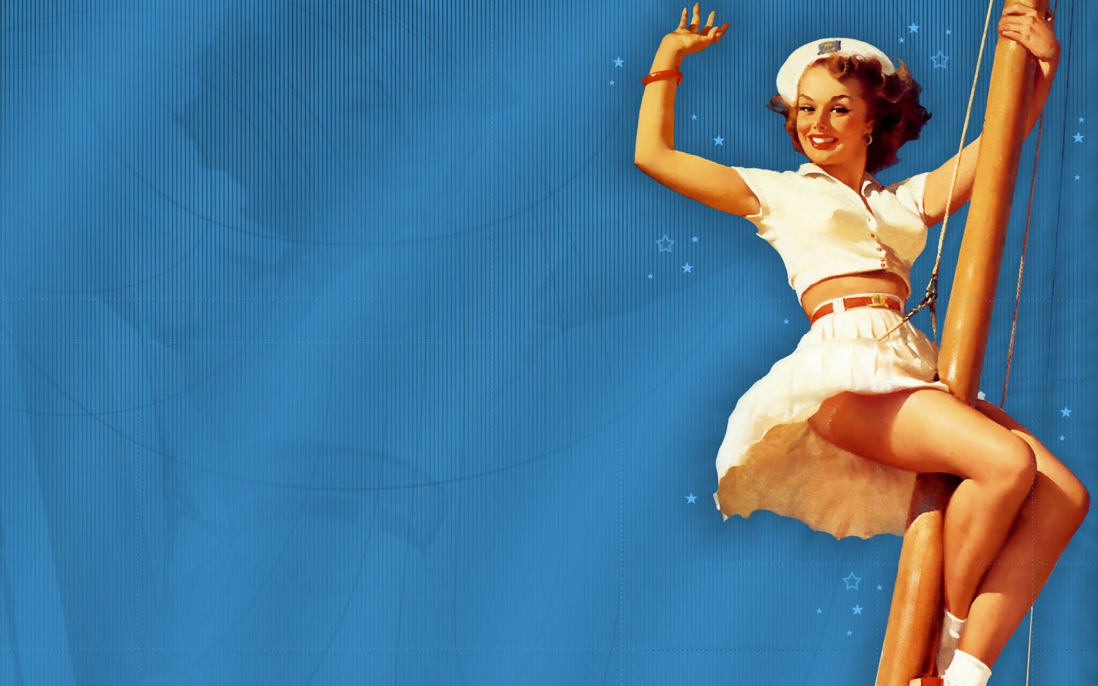 Classic Pin Up Wallpaper on WallpaperSafari