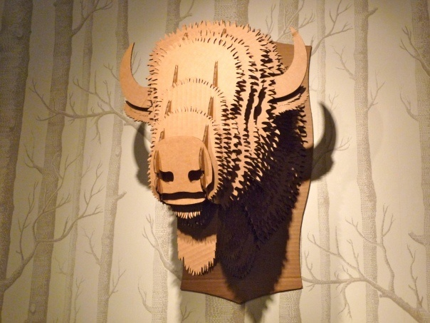 Cole Son Birch wallpaper Cool cardboard buffalo head 604x453