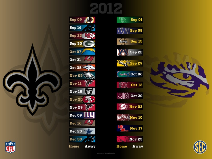 Saints 2012 LSU 2012 Desktop Wallpaper Sports Pinterest 736x552