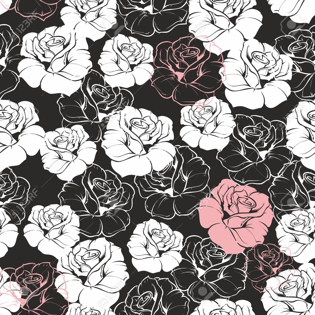 Free Download Seamless Vector Dark Floral Pattern With Classic