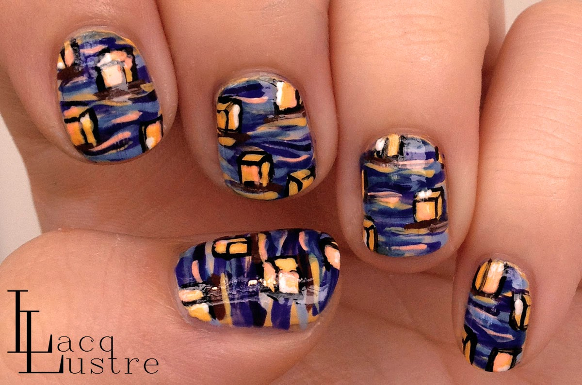 Hawaiian Lantern Floating nail art 1200x795
