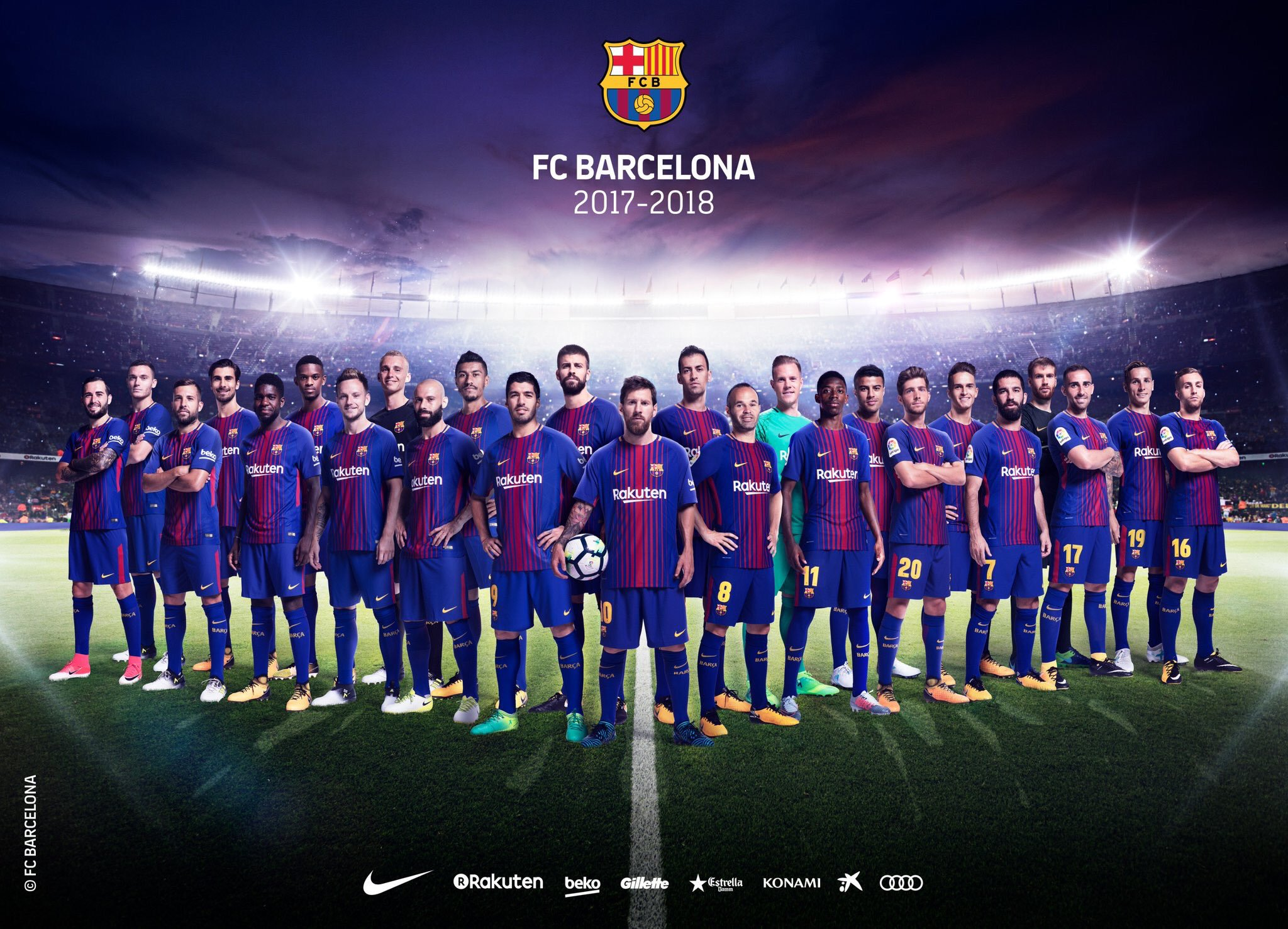 Catalan Edition on Twitter OFFICIAL FC Barcelona Squad 2048x1477