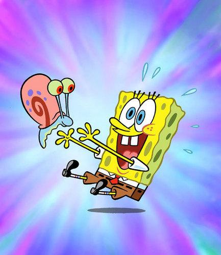 Nickelodeon images spongebob and gary wallpaper and 433x500