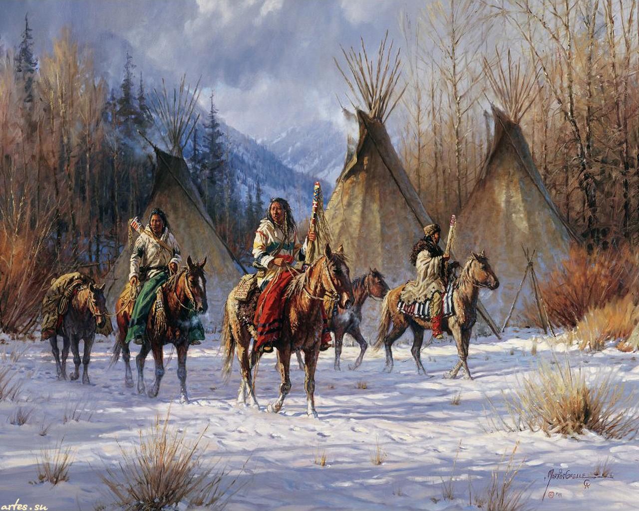 Native American Art by Martin Grelle   Desktop Wallpaper 1280x1024