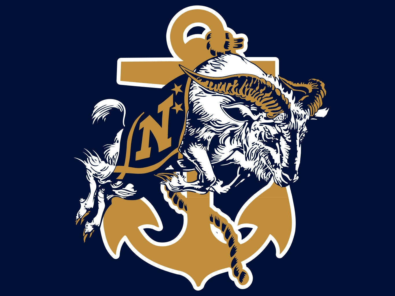 Navy Football Logo Wallpaper Images Pictures   Becuo 1365x1024