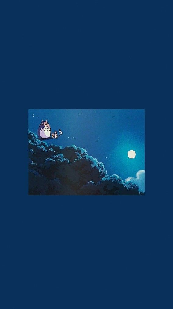 Could anybody make an aesthetic wallpaper like this totoro one but 567x1008