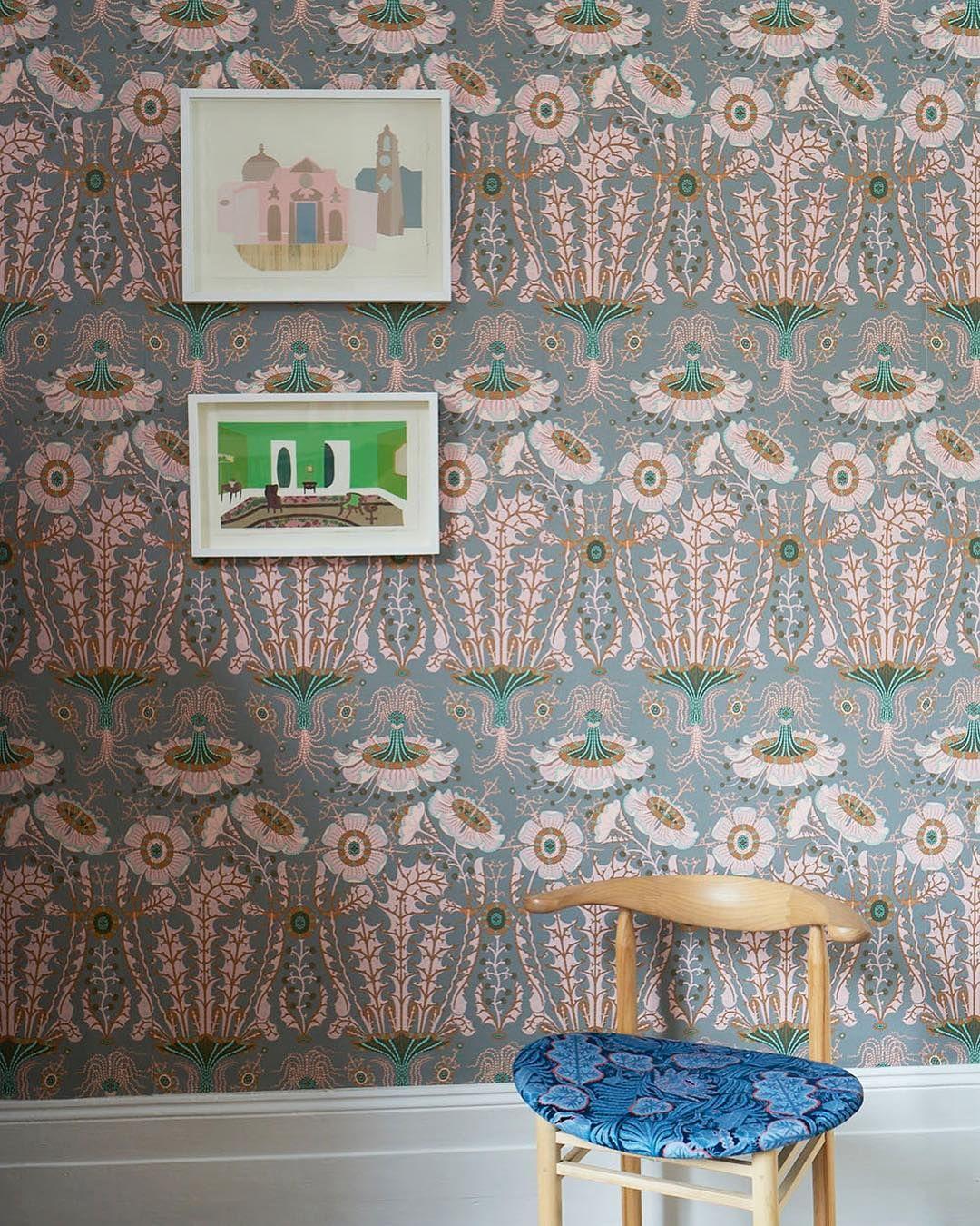 Equinoxe wallpaper by klaushaapaniemi nikari chair upholstered 1080x1350
