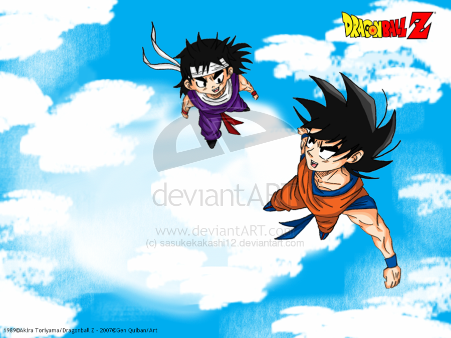 Goku and Kid Gohan Wallpaper by sasukekakashi12 900x675
