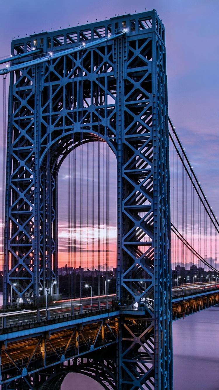 Man MadeGeorge Washington Bridge 750x1334 Wallpaper ID 606394 750x1334