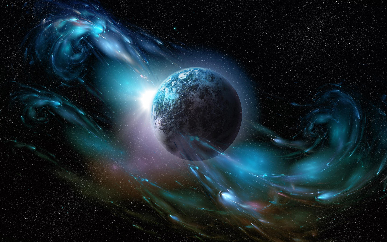 Обои Свечение за планетами картинки на рабочий стол на тему Космос - скачать  № 1772801 бесплатно