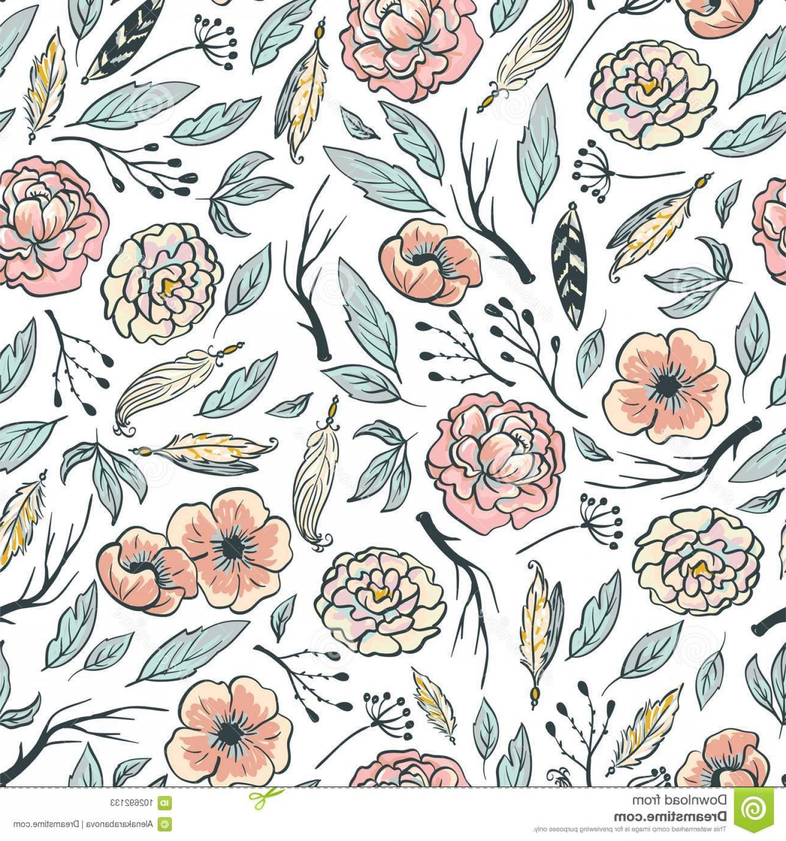 Free Download Boho Floral Vector Soidergi 1560x1668 For Your
